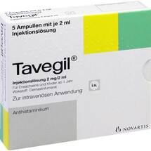 Produktbild Tavegil Injektionslösung 2 mg / 2 ml Ampullen