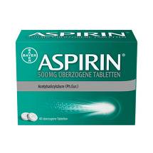Produktbild Aspirin 500 mg überzogene Tabletten