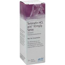 Terbinafin HCL acis 10 mg / g Spray