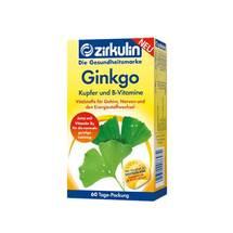 Produktbild Zirkulin Ginkgo Kupfer und B-Vitamine Tabletten
