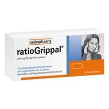 Produktbild Ratiogrippal 200 mg / 30 mg Filmtabletten