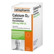 Produktbild Calcium D3 ratiopharm Kautabletten