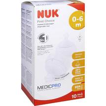NUK First Choice Einmal-Trinksauger Tpe 0 - 6 Mon. / M