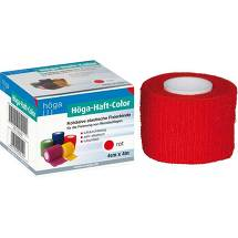 Produktbild Höga Haft Color Fixierbinde 4 cm x 4 m rot
