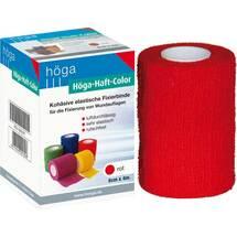Produktbild Höga Haft Color Fixierbinde 8 cm x 4 m rot