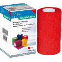 Produktbild Höga Haft Color Fixierbinde 10 cmx4 m rot