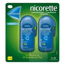 Produktbild Nicorette freshmint 4 mg Lutschtabletten gepresst