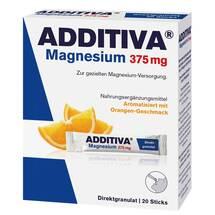 Produktbild Additiva Magnesium 375 mg Sticks Orange