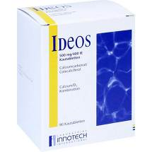 Produktbild Ideos 500 mg / 400 I.E. Kautabletten