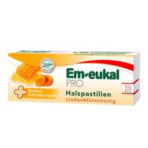 Produktbild Em-eukal Pro Halspastillen Lindenblütenhonig