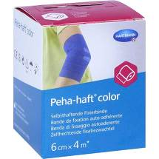 Peha-Haft Color Fixierbinde latexf.6 cm x 4 m blau