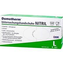 Produktbild Domotherm Untersuchungshandschuhe Nitril unste.puderfrei L