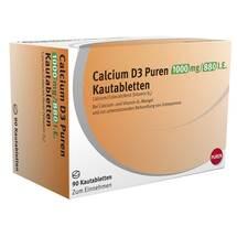 Calcium D3 Puren 1000 mg / 880 I.E. Kautabletten