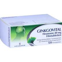 Produktbild Ginkgovital Heumann 40 mg Filmtabletten