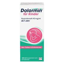 Produktbild Dolormin für Kinder Ibuprofensaft 40 mg / ml Suspension