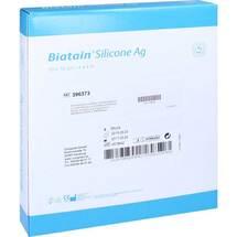 Produktbild Biatain Silicone Ag Schaumverband 10x10 cm
