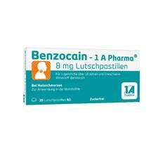 Benzocain 1A Pharma 8 mg Lutschpastillen