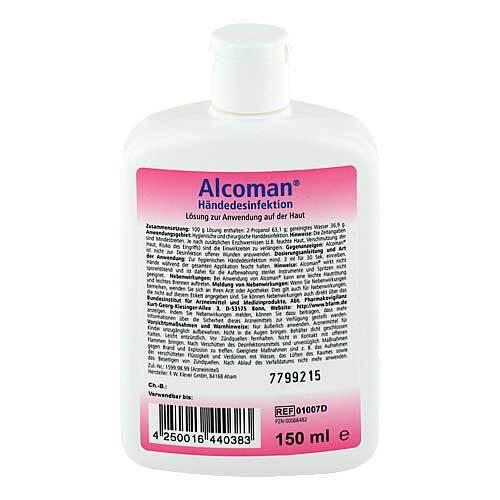Alcoman Händedesinfektion Lösung - 2