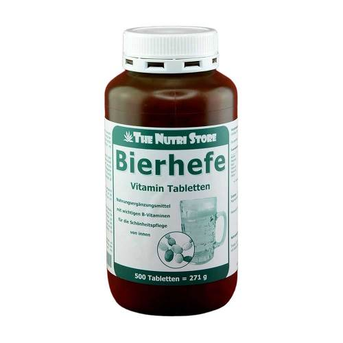 Bierhefe 500 mg Vitamin Tabletten - 1