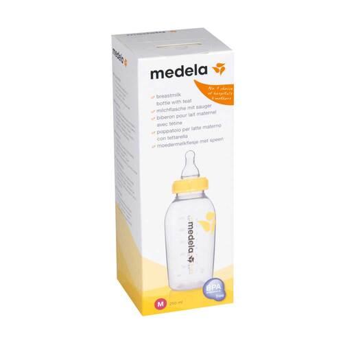 Medela Milchflasche 250 ml mit Sauger Größe M - 1
