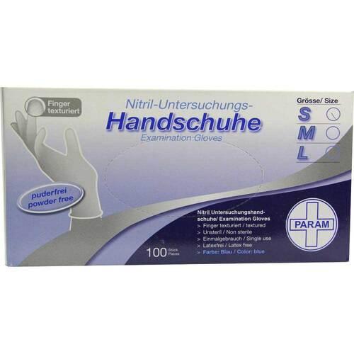 Handschuhe Einmal Nitril S blau - 1