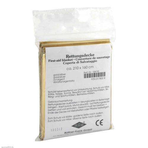 Rettungsdecke Kfz gold / silbe - 1