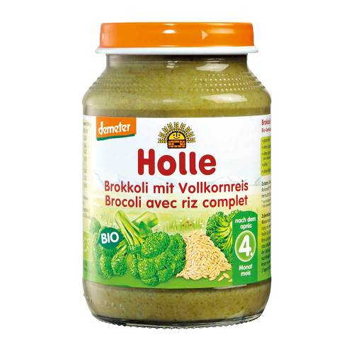 Holle Brokkoli mit Vollkornreis - 1