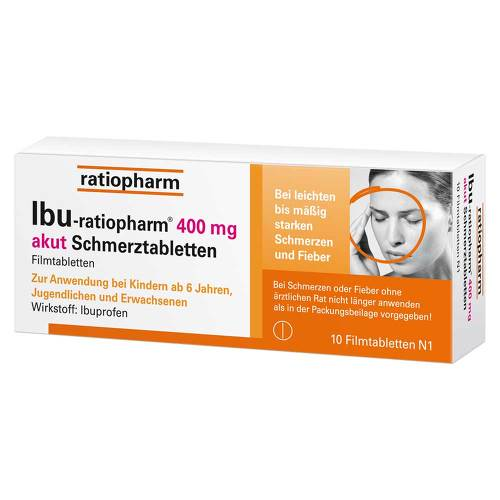 Ibu Ratiopharm 400 mg akut Schmerztbl. Filmtabletten - 1