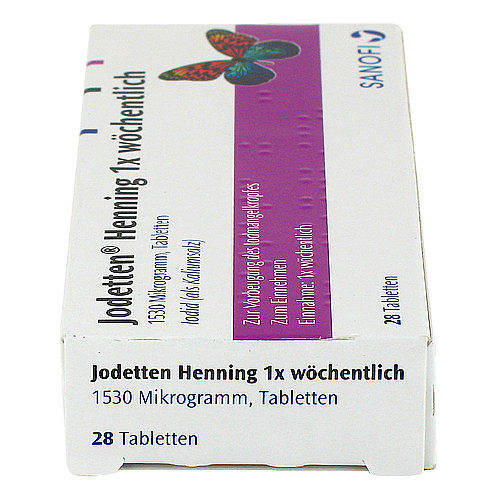 Jodetten Henning 1x wöchentlich Tabletten - 4