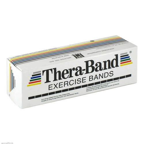 Thera Band Übungsband 5,5m rot mittel stark - 1