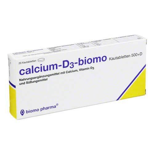 Calcium D3 biomo Kautabletten 500 + D - 1