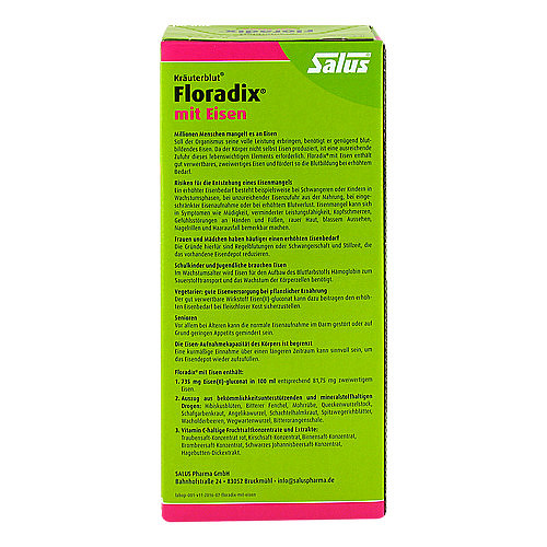 Floradix mit Eisen Lösung zum Einnehmen - 2