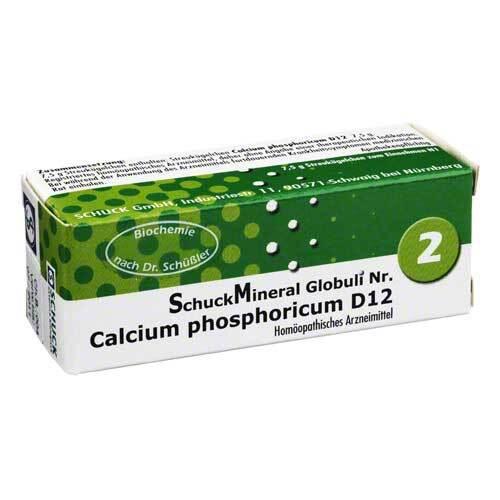 Schuckmineral Globuli 2 Calcium phosphoricum D12 - 1