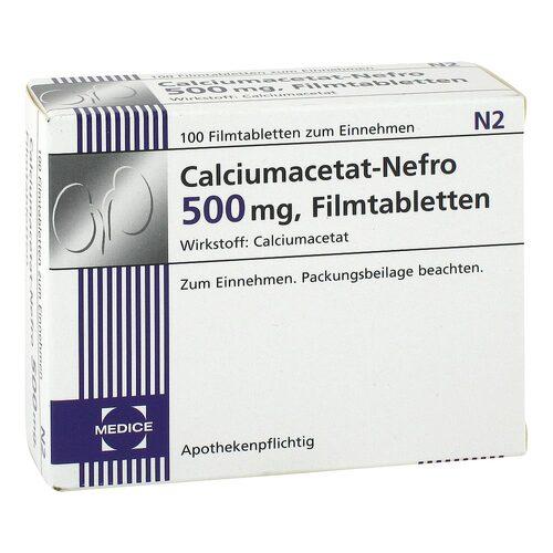 Calciumacetat Nefro 500 mg Filmtabletten - 1