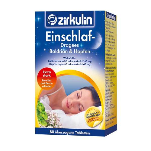 Zirkulin Einschlaf Dragees Baldrian & Hopfen - 1