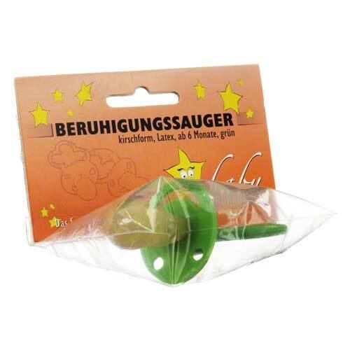 Beruhigungssauger Kirschform Latex ab 6 M.grün - 1