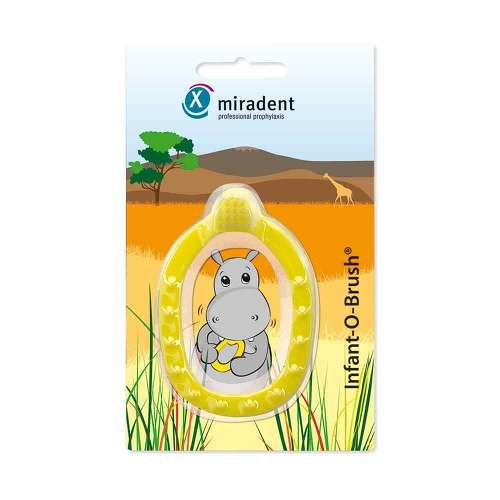 Miradent Kinder-Lernzahnbürst.Infant-O-Brush gelb - 1
