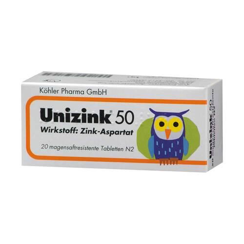 Unizink 50 magensaftresistente Tabletten - 1