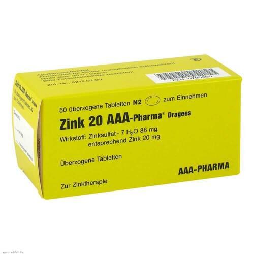 Zink 20 AAA Pharma Dragees - 1