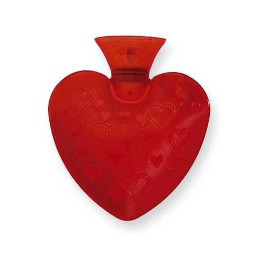 Fashy Wärmflasche transparent Herzform rot - 1