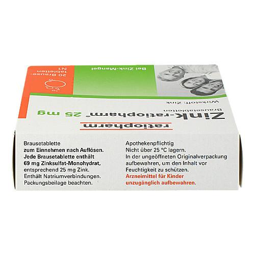 Zink Ratiopharm 25 mg Brausetabletten - 2