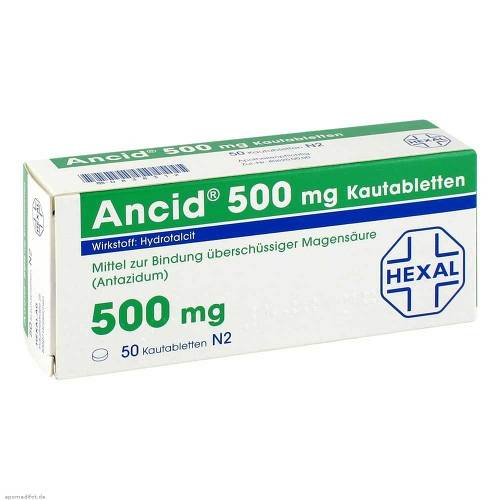 Ancid 500 mg Kautabletten - 1
