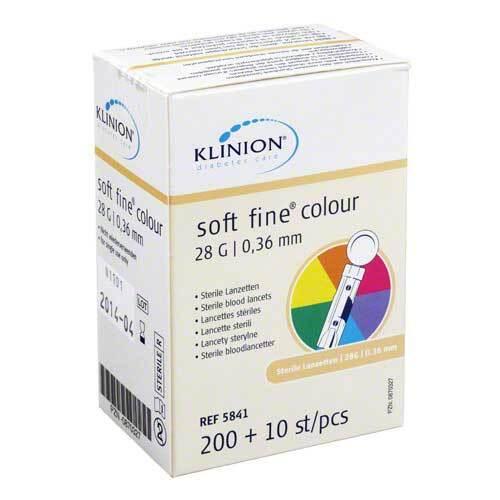 Klinion Soft fine colour Lanzetten 28 G - 1
