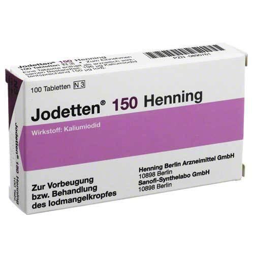 Jodetten 150 Henning Tabletten - 1