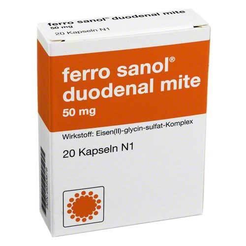 Ferro Sanol duo mite 50mg Hartkapseln mit magensaftresistent überzogene Pellets - 1