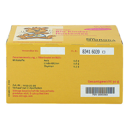 Sidroga Bio Kinder-Hustentee Filterbeutel - 4