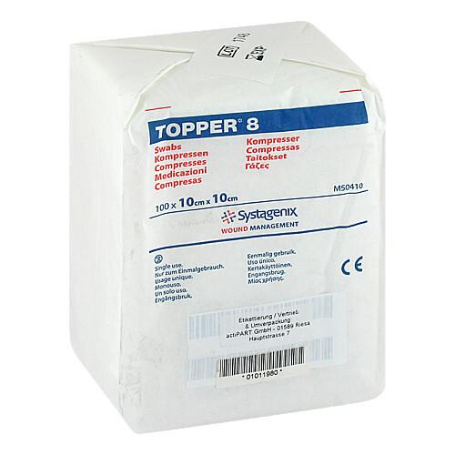 Topper 8 Kompresse unsteril 10x - 1