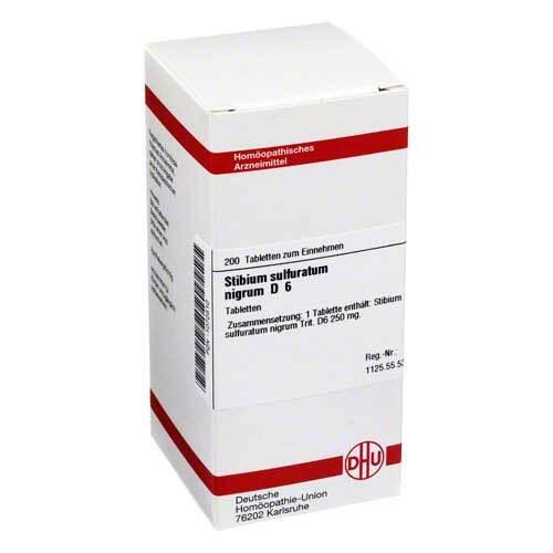 DHU Stibium sulfuratum nigrum D 6 Tabletten - 1