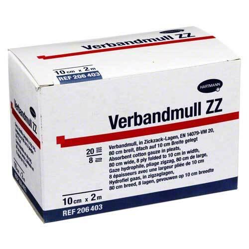 Verbandmull Hartmann 10 cm x 2 m zickzack - 1