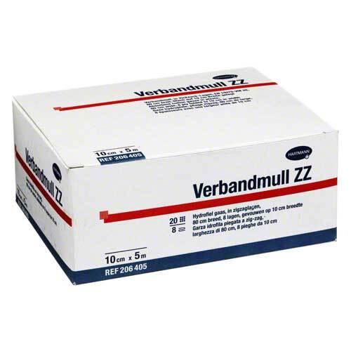 Verbandmull Hartmann 10 cm x 5 m zickzack - 1
